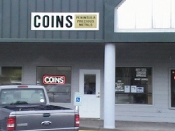 Picture of the front of coin store